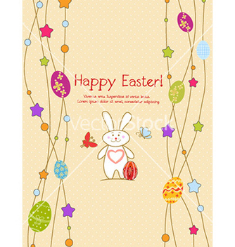 Free bunny with eggs vector - vector gratuit #226935