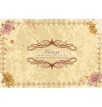 Free grunge floral frame vector - Free vector #226945