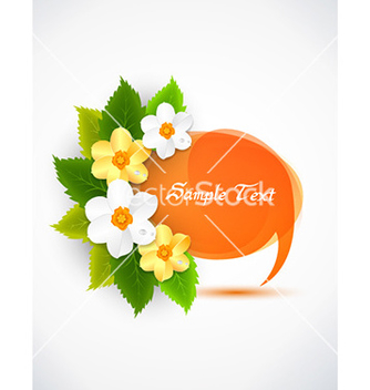 Free spring frame with floral vector - Free vector #227135