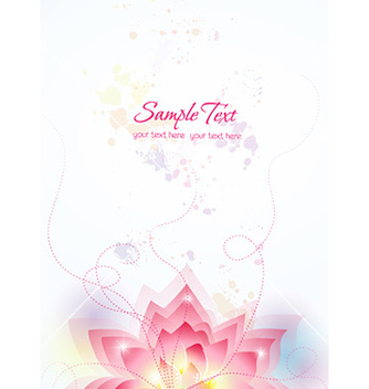 Free colorful abstract floral vector - Free vector #227295