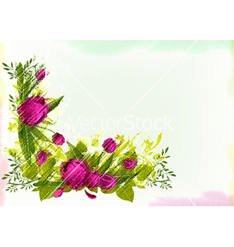 Free watercolor floral background vector - vector gratuit #227525