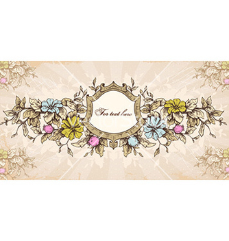 Free grunge floral frame vector - Free vector #227625