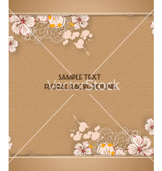 Free floral background vector - Free vector #227745