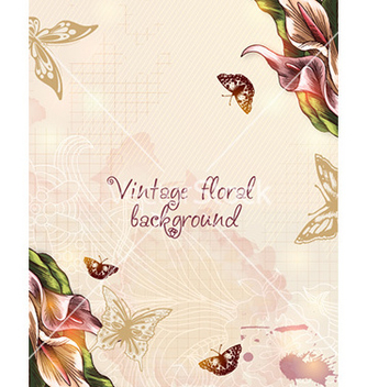 Free floral background vector - Free vector #228255