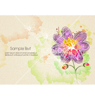 Free watercolor floral background vector - vector gratuit #228285