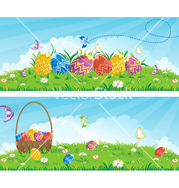 Free easter banners vector - бесплатный vector #228405