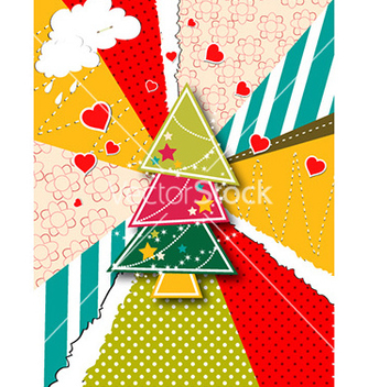 Free christmas with christmas tree vector - vector gratuit #228525