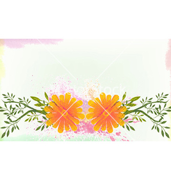 Free watercolor floral background vector - vector gratuit #228635