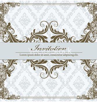 Free vintage floral frame vector - Kostenloses vector #228785