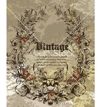 Free grunge floral frame vector - vector #229085 gratis