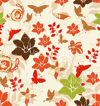 Free seamless floral background vector - Free vector #229125