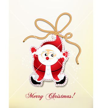 Free christmas with santa sticker vector - Free vector #229285