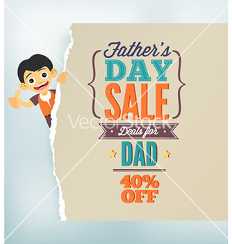 Free fathers day vector - Free vector #229295