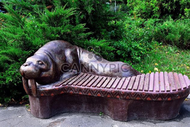 Sculptural bench - Free image #229385