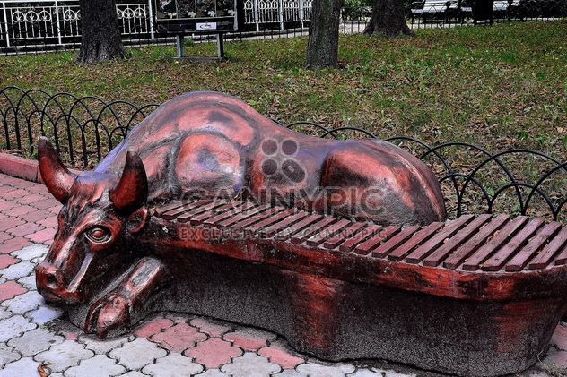 Sculptural bench - Free image #229395