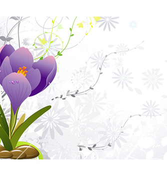 Free floral background vector - Free vector #229545