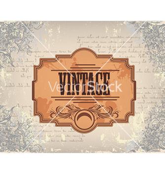 Free vintage floral frame vector - Kostenloses vector #229695
