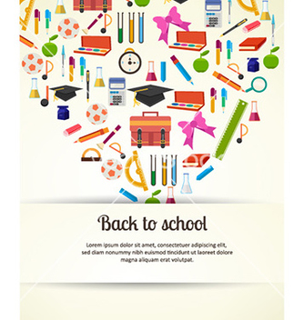 Free back to school vector - Kostenloses vector #230035