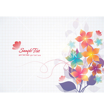 Free colorful abstract floral vector - Free vector #230045