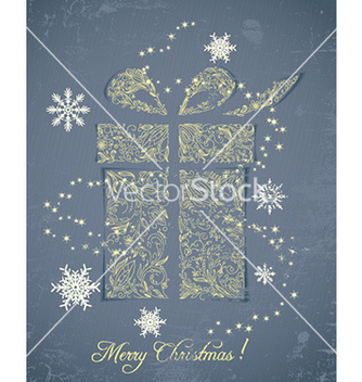 Free christmas with sticker gift vector - Kostenloses vector #230145