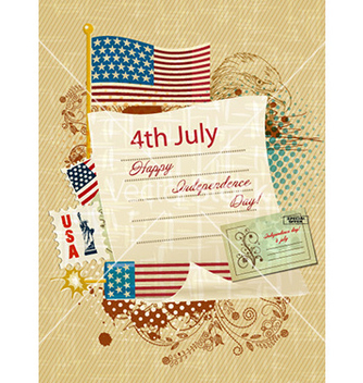 Free 4th of july independence day background vector - Kostenloses vector #230635