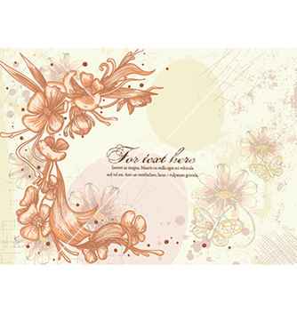 Free vintage floral background vector - Kostenloses vector #230735