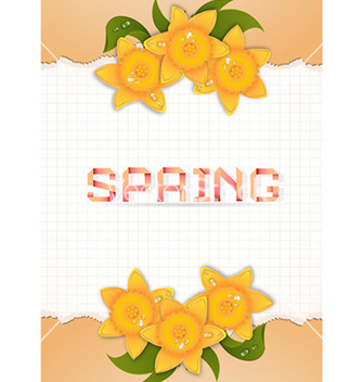 Free spring floral background vector - Kostenloses vector #230805