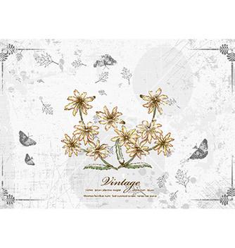 Free vintage floral vector - Kostenloses vector #230925
