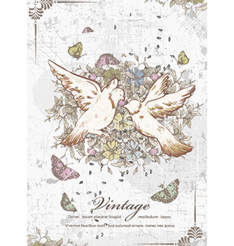 Free vintage birds vector - Free vector #231315