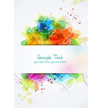 Free colorful abstract frame vector - Free vector #231765