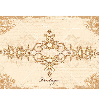 Free vintage frame with floral vector - Free vector #232055