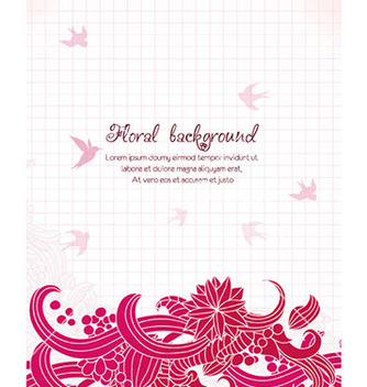 Free floral background vector - Free vector #232115