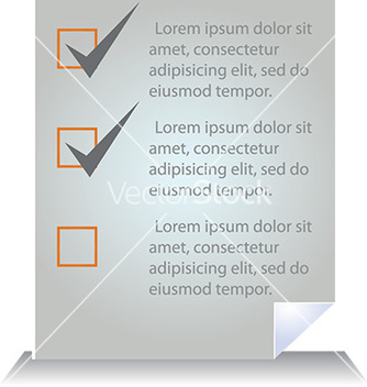 Free document template with tick boxes vector - Kostenloses vector #232795