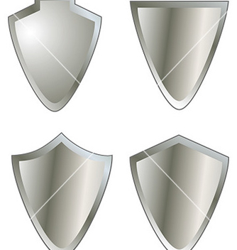 Free set of shield icons vector - Free vector #232855