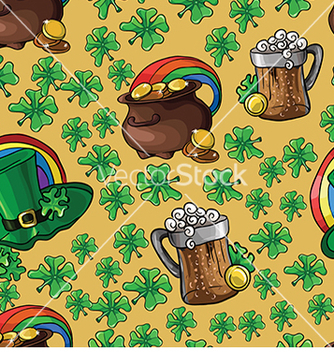 Free pattern with beer and a pot of money vector - Free vector #233025