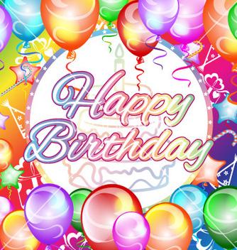 Free happy birthday vector - vector gratuit #233185