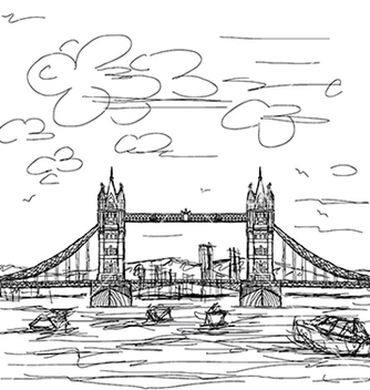 Free hand drawn of famous tourist destination tower vector - vector gratuit #233355