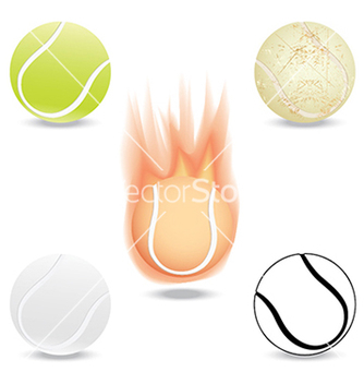 Free tennis ball vector - vector gratuit #233455