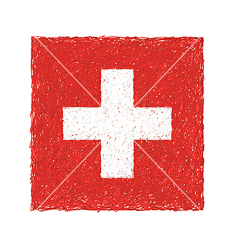 Free hand drawn of flag of switzerland vector - Free vector #233465