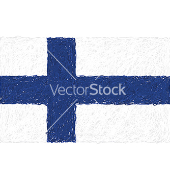 Free hand drawn of flag of finland vector - Free vector #233535