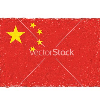 Free hand drawn of flag of china in white background vector - Free vector #233595