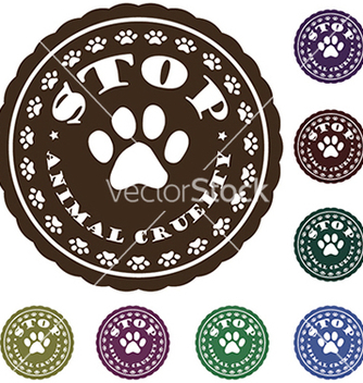 Free stop animal cruelty vector - Free vector #233775