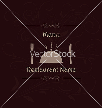 Free restaurant menu label brochure design element with vector - Free vector #233805