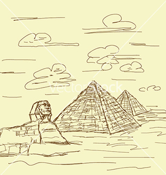 Free vintage hand drawn of famous tourist destination vector - Free vector #233825