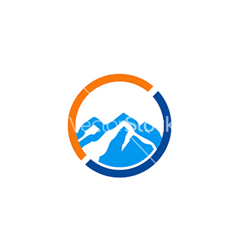 Free high mountain icon abstract travel logo vector - Free vector #233925