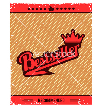 Free best seller retro background vector - Free vector #234035