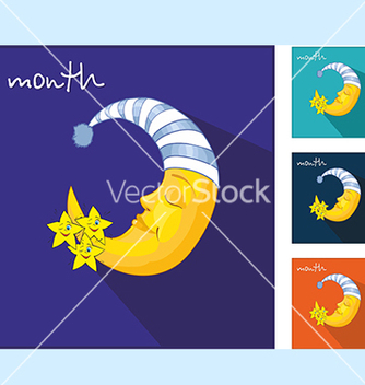 Free icons with the moon vector - vector gratuit #234105