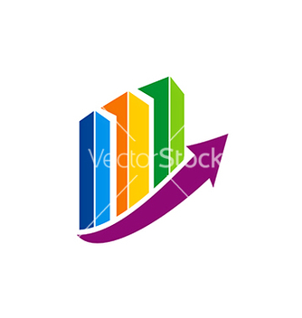 Free business finance chart colorful arrow logo vector - Free vector #234135