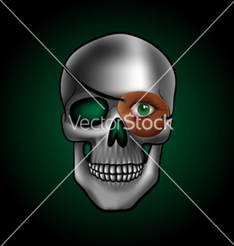 Free skull with one eye vector - Free vector #234145