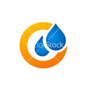 Free water drop symbol logo vector - Kostenloses vector #234165